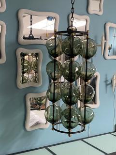 Bourgeois Boheme Atelier Opera Prima Chandelier by Bourgeois Boheme Atelier Hunter Green Glass  - 1921941