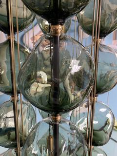 Bourgeois Boheme Atelier Opera Prima Chandelier by Bourgeois Boheme Atelier Hunter Green Glass  - 1921942