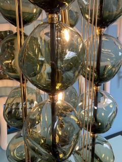 Bourgeois Boheme Atelier Opera Prima Chandelier by Bourgeois Boheme Atelier Hunter Green Glass  - 1921944