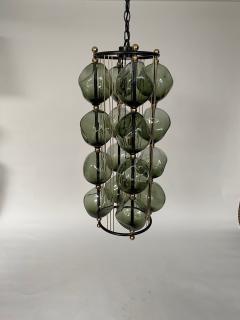Bourgeois Boheme Atelier Opera Prima Chandelier by Bourgeois Boheme Atelier Hunter Green Glass  - 1921945