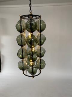 Bourgeois Boheme Atelier Opera Prima Chandelier by Bourgeois Boheme Atelier Hunter Green Glass  - 1921947