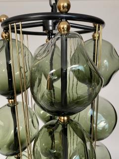 Bourgeois Boheme Atelier Opera Prima Chandelier by Bourgeois Boheme Atelier Hunter Green Glass  - 1921948