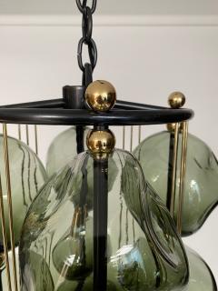 Bourgeois Boheme Atelier Opera Prima Chandelier by Bourgeois Boheme Atelier Hunter Green Glass  - 1921949