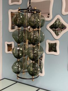Bourgeois Boheme Atelier Opera Prima Chandelier by Bourgeois Boheme Atelier Hunter Green Glass  - 1927300