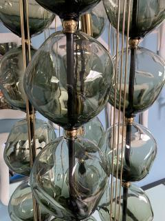 Bourgeois Boheme Atelier Opera Prima Chandelier by Bourgeois Boheme Atelier Hunter Green Glass  - 1927303