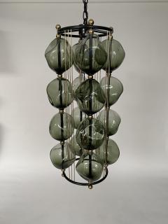 Bourgeois Boheme Atelier Opera Prima Chandelier by Bourgeois Boheme Atelier Hunter Green Glass  - 1927305