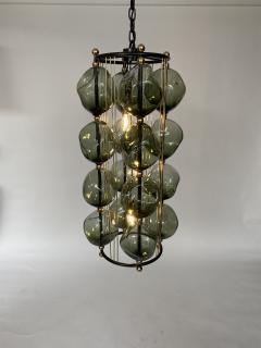 Bourgeois Boheme Atelier Opera Prima Chandelier by Bourgeois Boheme Atelier Hunter Green Glass  - 1927308