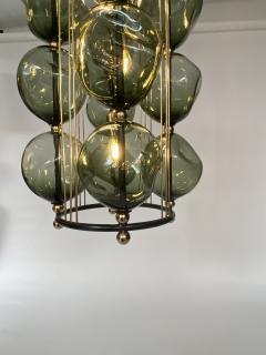 Bourgeois Boheme Atelier Opera Prima Chandelier by Bourgeois Boheme Atelier Hunter Green Glass  - 1927312