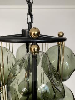 Bourgeois Boheme Atelier Opera Prima Chandelier by Bourgeois Boheme Atelier Hunter Green Glass  - 1927313