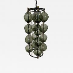 Bourgeois Boheme Atelier Opera Prima Chandelier by Bourgeois Boheme Atelier Hunter Green Glass  - 1929619