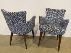 Bourgeois Boheme Atelier Pair of Aube Chairs Polka Dot Fabric - 1591945