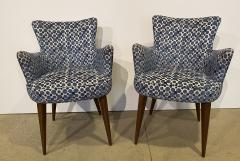 Bourgeois Boheme Atelier Pair of Aube Chairs Polka Dot Fabric - 1591946