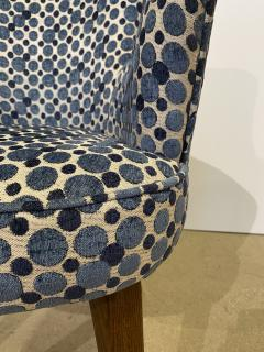 Bourgeois Boheme Atelier Pair of Aube Chairs Polka Dot Fabric - 1591949