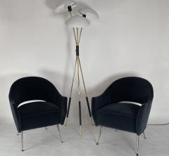 Bourgeois Boheme Atelier Pair of Briance Chairs Black Nickel Legs - 1181158