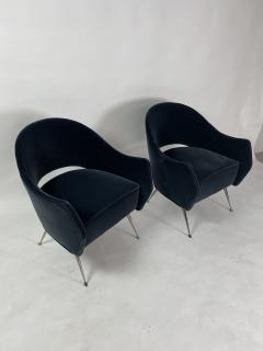 Bourgeois Boheme Atelier Pair of Briance Chairs Black Nickel Legs - 1181160