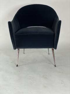Bourgeois Boheme Atelier Pair of Briance Chairs Black Nickel Legs - 1181164