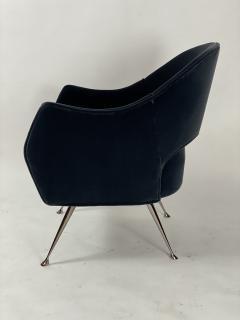 Bourgeois Boheme Atelier Pair of Briance Chairs Black Nickel Legs - 1181166