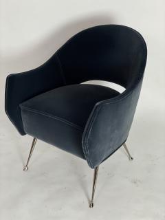 Bourgeois Boheme Atelier Pair of Briance Chairs Black Nickel Legs - 1181168