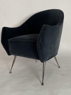 Bourgeois Boheme Atelier Pair of Briance Chairs Black Nickel Legs - 1181169