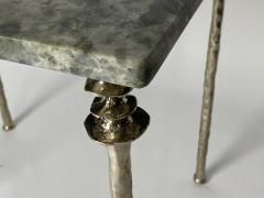 Bourgeois Boheme Atelier Pair of Sorgue Side Table White Bronze legs - 1236663