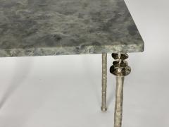 Bourgeois Boheme Atelier Pair of Sorgue Side Table White Bronze legs - 1236666