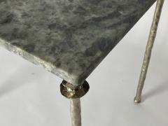 Bourgeois Boheme Atelier Pair of Sorgue Side Table White Bronze legs - 1236668