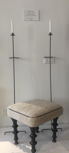 Bourgeois Boheme Atelier Single Font Albe Candle Wall Candle Stick Oxidized - 1159718