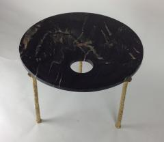 Bourgeois Boheme Atelier Sorgue Side Table Black Marble with Brass Legs - 1780805