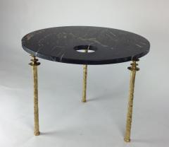 Bourgeois Boheme Atelier Sorgue Side Table Black Marble with Brass Legs - 1780806