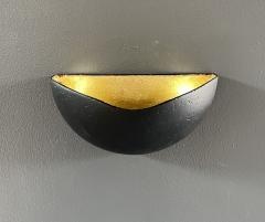 Bourgeois Boheme Atelier St Germain Sconce Matte Black with Gold Leaf Interior - 2114181