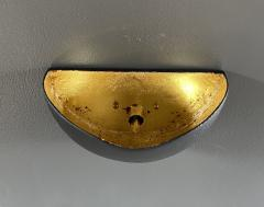 Bourgeois Boheme Atelier St Germain Sconce Matte Black with Gold Leaf Interior - 2114185