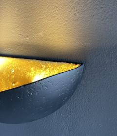 Bourgeois Boheme Atelier St Germain Sconce Matte Black with Gold Leaf Interior - 2114189