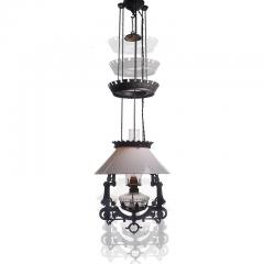 Bradley Hubbard Manufacturing Company Electrified 1876 Bradley and Hubbard Rise and Fall Lamp - 951004