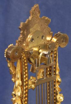 Breant a Paris c 1790 French Ormolu and Marble Swinging Lyre Clock - 1184084