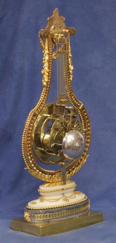 Breant a Paris c 1790 French Ormolu and Marble Swinging Lyre Clock - 1184087