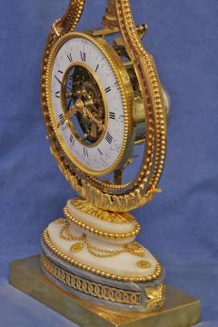 Breant a Paris c 1790 French Ormolu and Marble Swinging Lyre Clock - 1184088