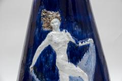Briosco 1930s Art D co ceramic Vase Signed Briosco - 1310143
