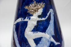 Briosco 1930s Art D co ceramic Vase Signed Briosco - 1310144