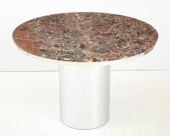 Brueton 1970s Brueton Stainless Steel And Marble Dining Table - 1528475
