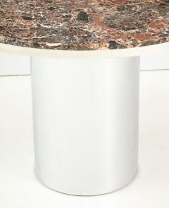 Brueton 1970s Brueton Stainless Steel And Marble Dining Table - 1528476