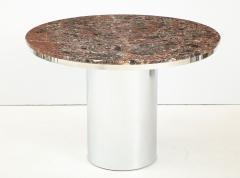 Brueton 1970s Brueton Stainless Steel And Marble Dining Table - 1528477