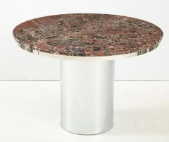 Brueton 1970s Brueton Stainless Steel And Marble Dining Table - 1528479