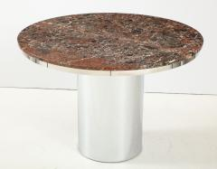 Brueton 1970s Brueton Stainless Steel And Marble Dining Table - 1528484