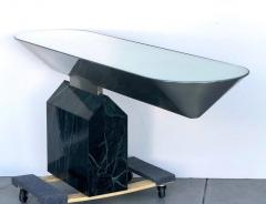 Brueton Brueton Console Table Illuminated Stainless Steel and Marble by J Wade Beam - 1421348