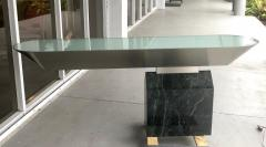 Brueton Brueton Console Table Illuminated Stainless Steel and Marble by J Wade Beam - 1421349