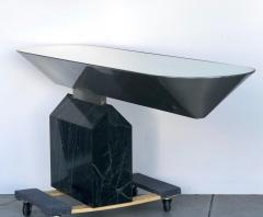 Brueton Brueton Console Table Illuminated Stainless Steel and Marble by J Wade Beam - 1421351