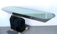 Brueton Brueton Console Table Illuminated Stainless Steel and Marble by J Wade Beam - 1421355