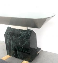 Brueton Brueton Console Table Illuminated Stainless Steel and Marble by J Wade Beam - 1421356
