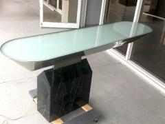 Brueton Brueton Console Table Illuminated Stainless Steel and Marble by J Wade Beam - 1421357