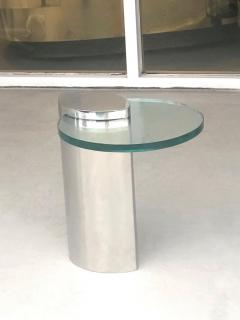 Brueton Brueton Mirror Polished Modernist Minimalist Side Drink Table - 1421330